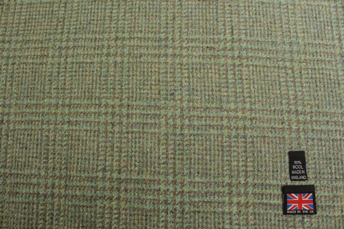100% Pure New Wool Glen Check Fabric | BZ59